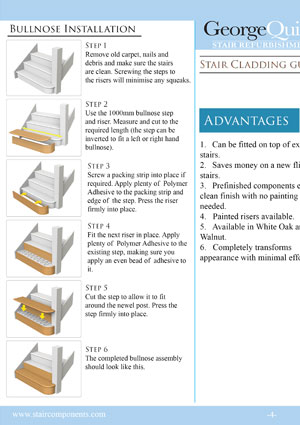 Stair refurbishments instructions (Stair Cladding Guide)