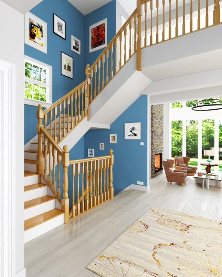 Stairs with Acorn Newel Cap - George Quinn Stair Parts Plus