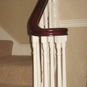 George Quinn Stair Parts Plus – Achill Primed Spindles and Scroll Post with Scroll and Wreath