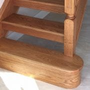 George Quinn Stair Parts Plus – White Oak Bullnose Step and Riser