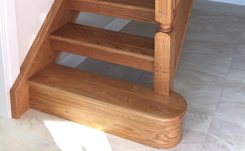 Captivating George Quinn Stair Parts Plus U2013 White Oak Bullnose Step And Riser