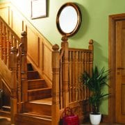 George Quinn square turned staircase design Concra collection