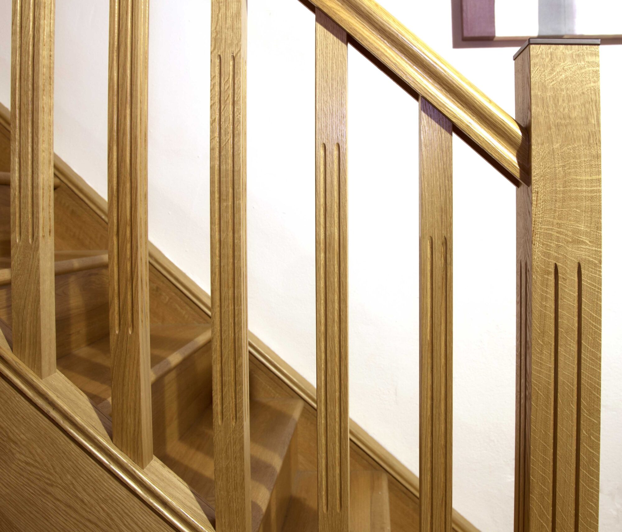 ... Modern Staircase Design, Tuscan Collection | George Quinn Stair Parts  Plus Tuscan Long Square ...