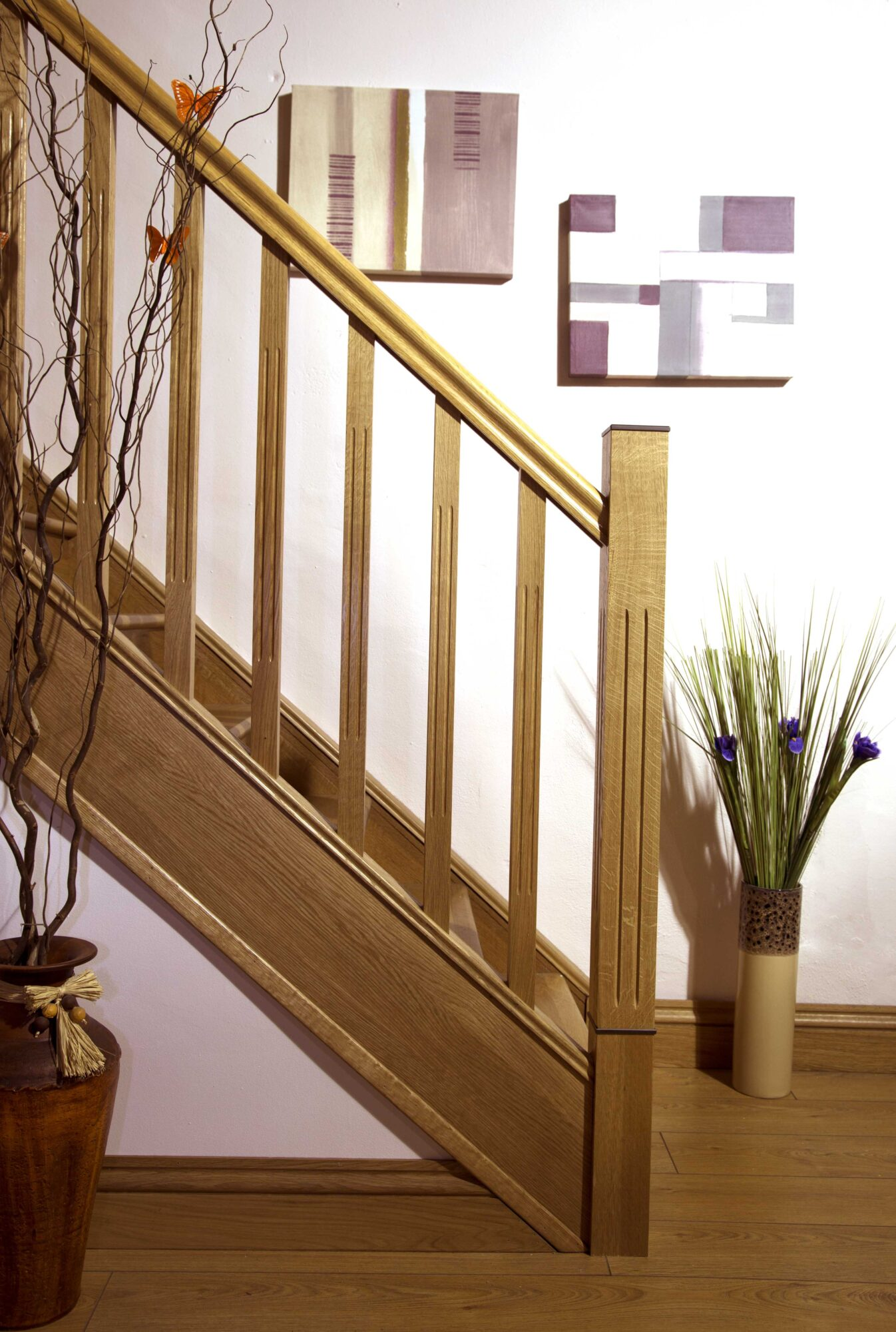 Tuscan Long Square Fluted Newel Post George Quinn Stair