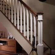 George Quinn Stair Parts – Boyne Chamfer Spindles with Full Box Newel