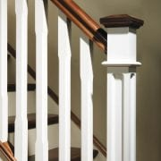 Pyramid newel post caps used in Stop chamfered collection | George Quinn Stair Parts Plus