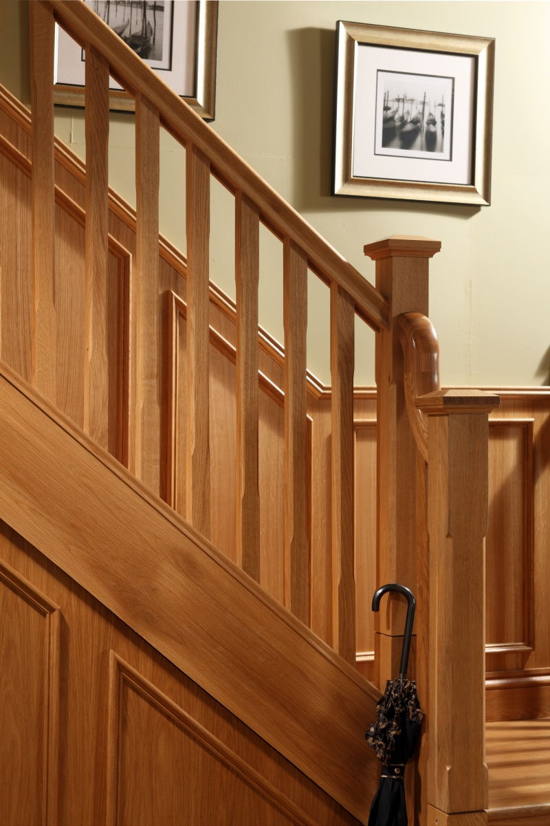 Boyne Chamfered Double Square Newel Post George Quinn