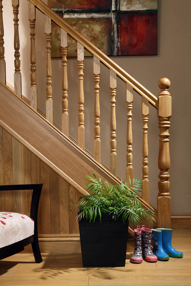 Image of Handrail used in our Exclusive staircase design, Corby - George Quinn Stair Parts Plus