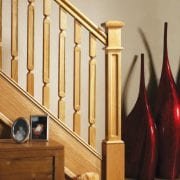 George Quinn Stair Parts – Oriel Range Spindles with Full Box Newel