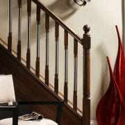 Modern staircase design (metal and wood), Erne collection – George Quinn Stair Parts Plus