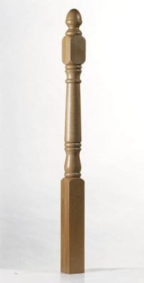 Achill Short Square full newel post | 1525mm x 91mm x 91mm - George Quinn Stair Parts Plus