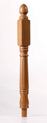 Picture of Achill Long Square Fluted Newel Post - George Quinn Stair Parts Plus
