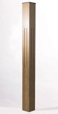 Image of Tuscan Complete Fluted Newel Post | George Quinn Stair Parts Plus