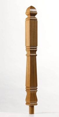 Image of Concra Long Square Newel Post | George Quinn Stair Parts Plus