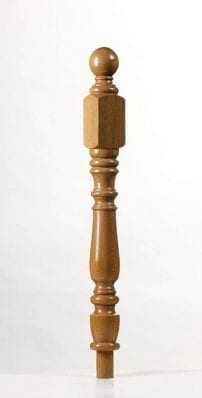 Image of Corby Short Square Newel Post | George Quinn Stair Parts Plus
