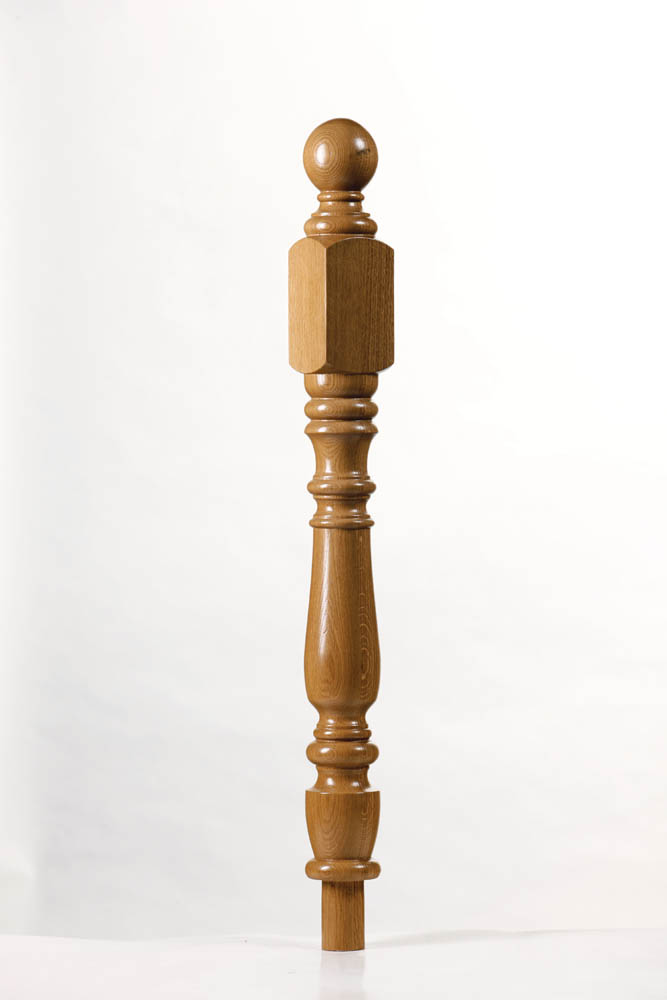 Corby Short Square Newel Post | George Quinn Stair Parts Plus
