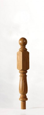 Image of Corby UK Long Square Fluted Newel Post | George Quinn Stair Parts Plus