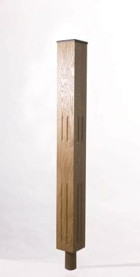 Image of Tuscan Double Square Fluted Newel Post | GQ Stair Parts Plus