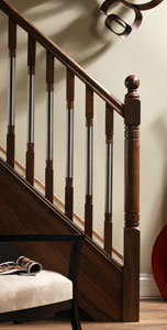 Staircase design from the Erne stair parts collection - George Quinn Stair Parts Plus