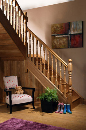 Image of our Exclusive staircase design, Corby Collection | George Quinn Stair Parts Plus