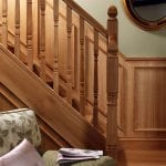 Image of a Square turned staircase design, Concra collection | George Quinn Stair Parts Plus