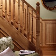 Square turned staircase design, Concra collection | George Quinn Stair Parts Plus