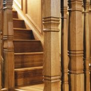 Square turned newel posts, Concra collection   George Quinn Stair parts plus