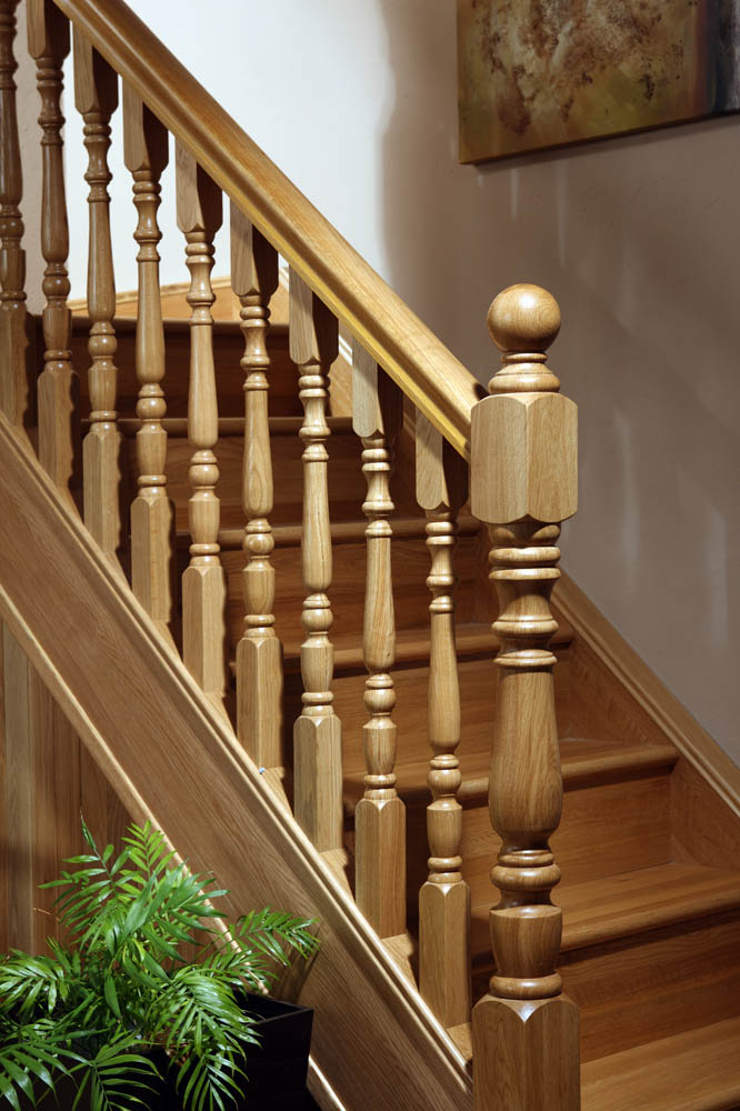 Corby Long Square Fluted Newel Post George Quinn Stair