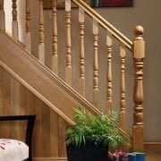 Base rail used in our Exclusive staircase design, Corby collection – GQ Stair Parts Plus