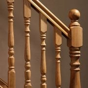 George Quinn staircase with ball top – Corby collection