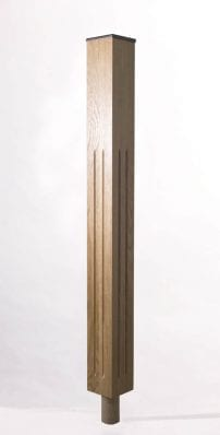Image of Tuscan Long Square Fluted Newel Post | George Quinn Stair Parts Plus