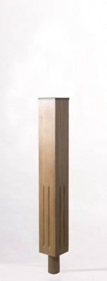Image of Tuscan Long Square UK Fluted Newel Post | George Quinn Stair Parts