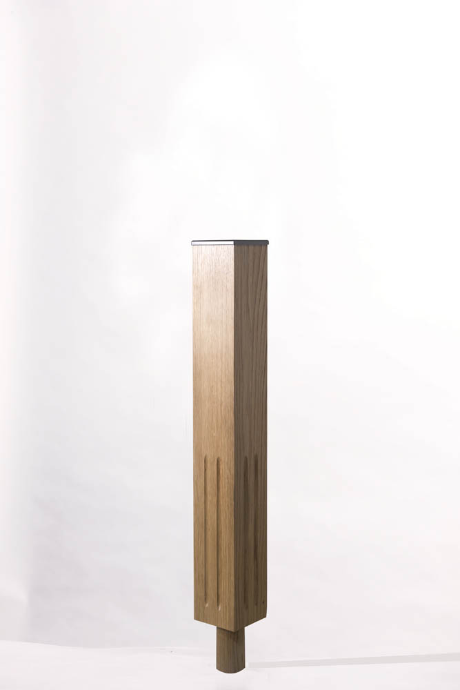 Tuscan Long Square UK Fluted Newel Post | George Quinn Stair Parts