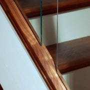 base rail used in Modern, Glass staircase design | George Quinn Stair Parts Plus