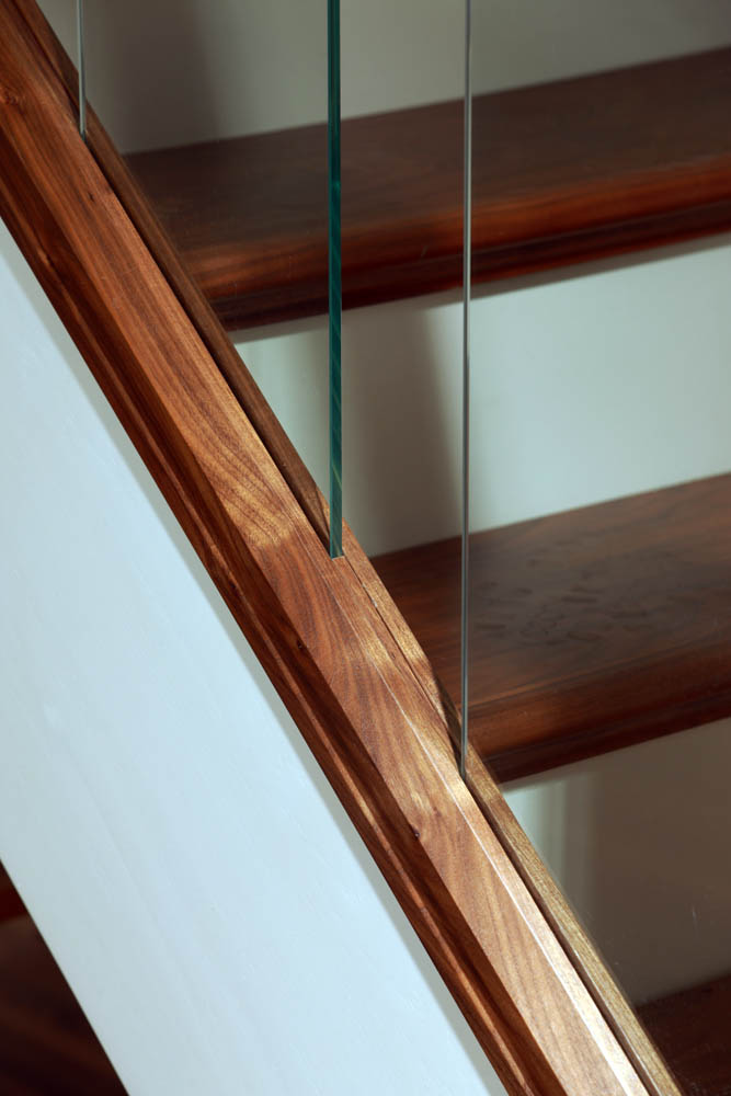image of Modern, Glass staircase design | George Quinn Stair Parts Plus