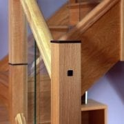 Newel post bolt cover used in glass staircase | George Quinn Stair Parts Plus