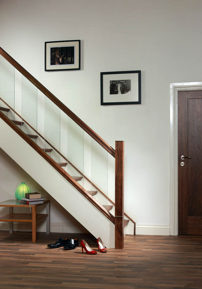 handrail for glass panels george quinn stair parts plus. Black Bedroom Furniture Sets. Home Design Ideas