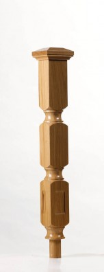Image of Oriel double square newel post | George Quinn Stair Parts Plus