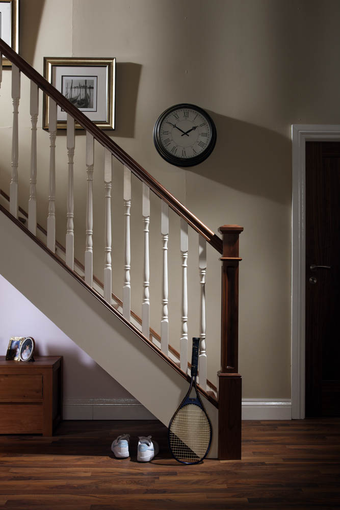 Image of Handrail used in a Traditional staircase design - George Quinn Stair Parts Plus