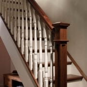 Traditional staircase design with box newel post, Achill collection | GQ Stair Parts Plus