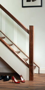 Image of Modern Glass staircase design - Urbana collection | George Quinn Stair Parts Plus