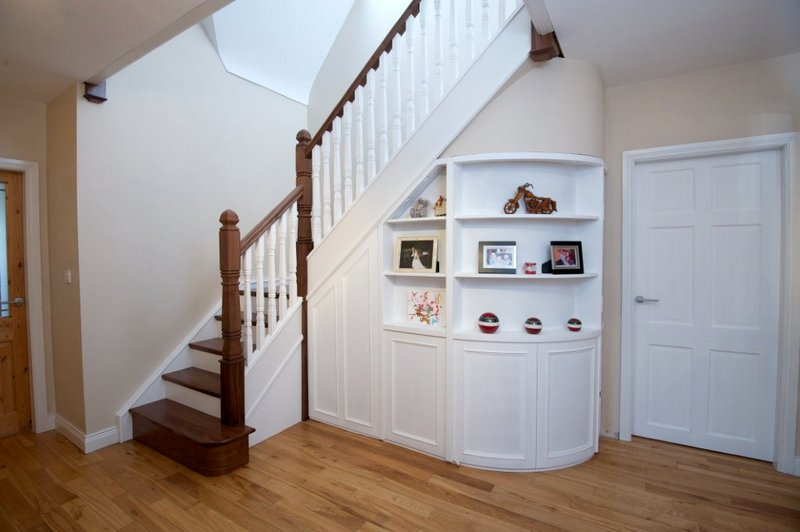3 under stairs storage ideas for your home george quinn stair parts plus. Black Bedroom Furniture Sets. Home Design Ideas
