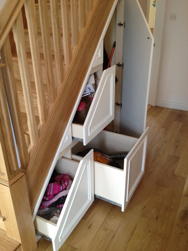 3 under stairs storage ideas for your home george quinn. Black Bedroom Furniture Sets. Home Design Ideas