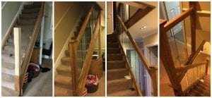 Urbana Glass Renovation Project - Urbana Glass Range and White Oak Stop Chamfer Newel Posts