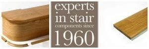 George Quinn Stair Parts Plus - White Oak Bullnose Step & Riser
