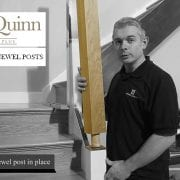 George Quinn Stair Parts Plus – Square Plain Newel Post with dowel