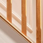 George Quinn Stair Parts Plus – Boyne Chamfer White Oak Spindles
