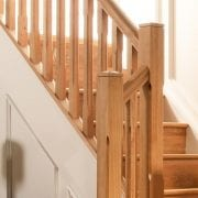 George Quinn Stair Parts Plus – Boyne Chamfer White Oak Staircase