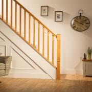 George Quinn Stair Parts Plus – Lisbon – White Oak Staircase