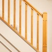 George Quinn Stair Parts Plus – Lisbon – White Oak Staircase